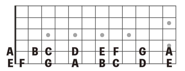 ギター指板の音名